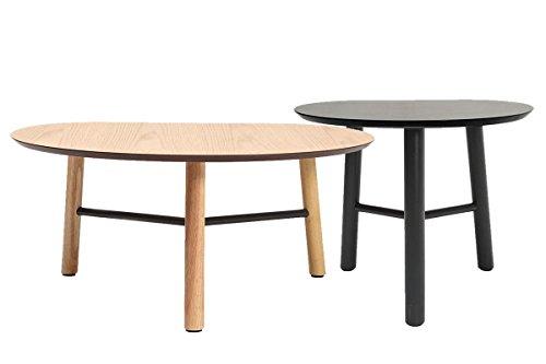 JAPANSK set of 2 wooden designer side tables 31.5'' and 19.7'' by miliboo