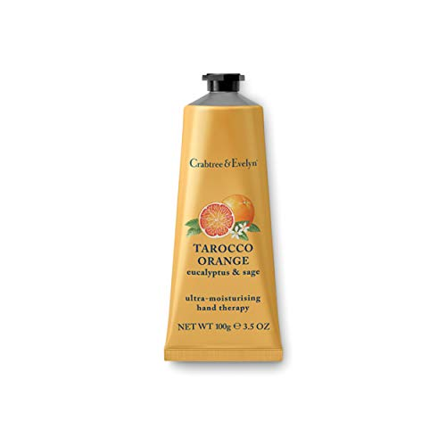 Crabtree & Evelyn Ultra-Moisturising Hand Cream Therapy, Tarocco Orange, Eucalyptus & Sage, 3.5 oz ()
