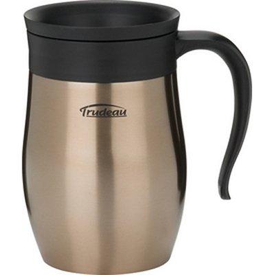 (Trudeau Stainless Steel Endure Desk Mug, 16 oz, Copper)