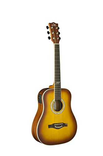 EKO Guitars 06217131 TRI Series Mini Dreadnought Acoustic-Electric Guitar - Honey Burst (Electric Honey Acoustic Guitar)