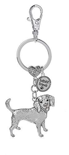 - Gnz Dog Lovers Forever Friends Zinc Key Chain w/Clip -Beagle