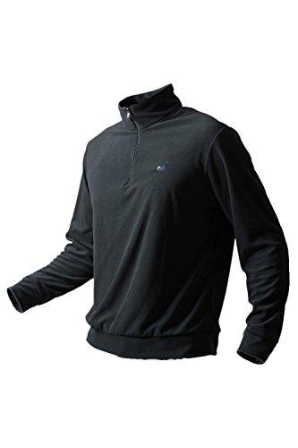 Mr.Stream Men's Half Zip Sweatshirt Outdoor Mountain Lightweight Micro Fleece Camping Hiking Coat Walking Pullover 2XL Gray