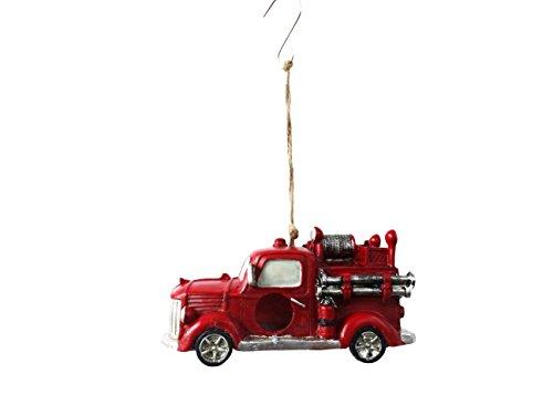 Alpine Corporation Hanging Fire Truck Bird House Decor
