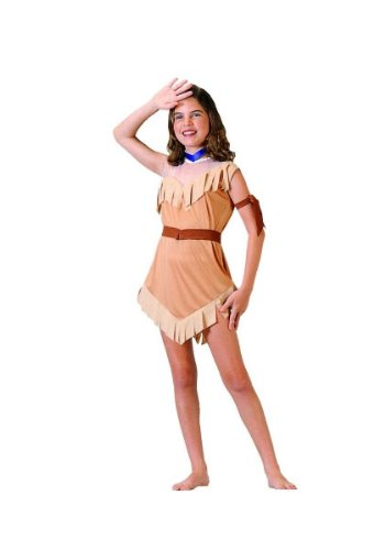 Pocahontas Indian Costumes (RG Costumes Native American Girl Costume, Brown, Small)