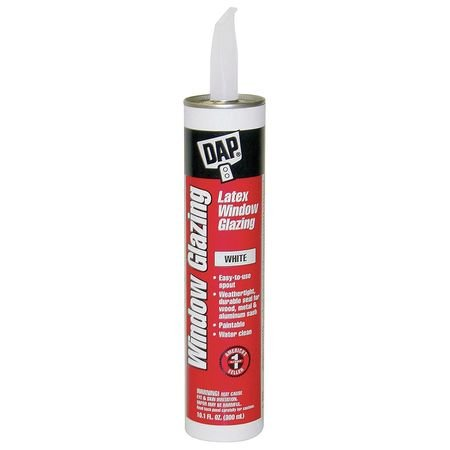 Dap 12108 18 Pack 10.1 oz. Latex Window Glazing, White