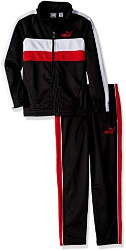 PUMA Little Boys' Tricot Pant Set, Black, 7 ()
