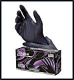 Adenna Shadow Black Nitrile Powder-Free Exam Gloves Large Case