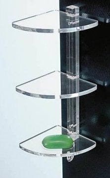 Mensole Da Bagno Ad Angolo In Plexiglass Con Supporti Trasparenti