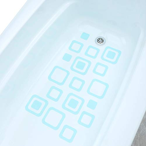 SlipX Solutions Adhesive Square Bath Treads, 21 Count ()