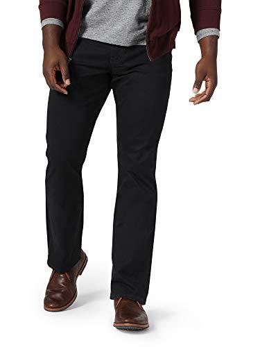 Wrangler Authentics Men's Straight Fit Twill Pant, Caviar, 38W x 32L
