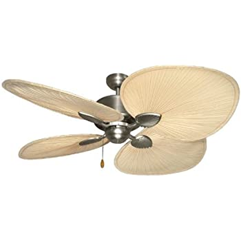 Palm breeze ii tropical palm ceiling fan in satin steel with 56 palm breeze ii tropical palm ceiling fan in satin steel with 56 natural palm blades aloadofball Images