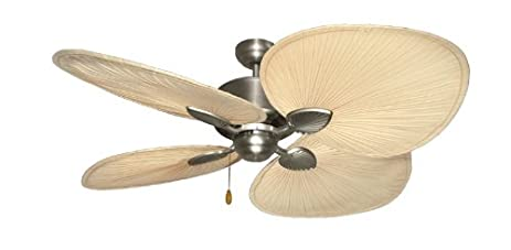 Palm breeze ii tropical palm ceiling fan in satin steel with 56 palm breeze ii tropical palm ceiling fan in satin steel with 56quot natural palm blades aloadofball Choice Image