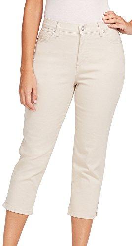 Classic Capris Stretch (Gloria Vanderbilt Women's Amanda Capri Jeans, Pebblestone, 14)