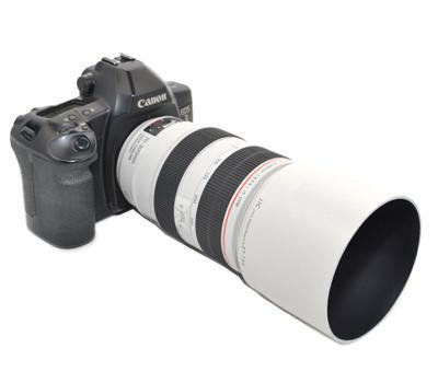 JJC LH-T73B(W) Lens Hood Shade For Canon EF 70-300mm F4-5.6 L IS USM Lens Replaces Canon ET-73B White