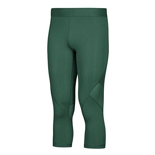 adidas AlphaSkin Compression ThreeQuarter Tight Mens Training XL Dark Green]()