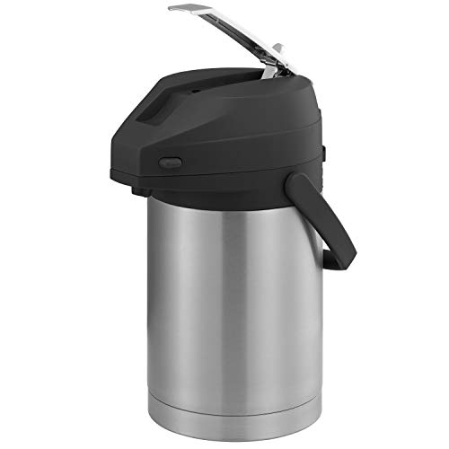 Service Ideas CTAL22BL Airpot with Lever, Stainless Steel Lined, 2.2 L, Black Top ()