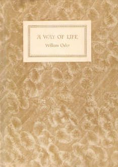 A way of life: An address delivered to Yale students on the evening of Sunday, April 20th, 1913, by P.B. Hoeber inc