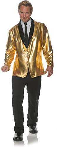 Underwraps Men's 1950s Doo Wop Costume Jacket-Gold, One -