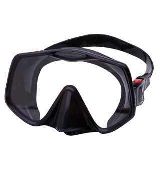 Diving & Snorkeling Black/Red Boating & Watersports Atomic Frameless 2 Low Volumes Scuba Diving Mask with Ultra-Clear Lens