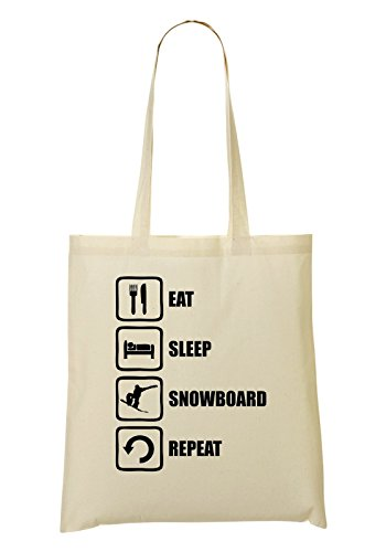Sleep Fourre Eat provisions Repeat Snowboard Sac à tout Graphic Funny Black Sac pq4xdw401