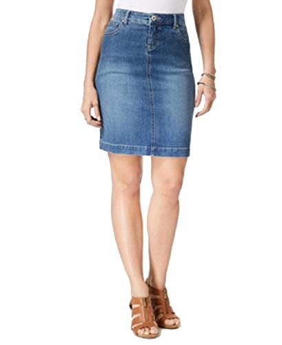 (Style & Co. Denim Skirt (Rinse Wash Spice, 14))