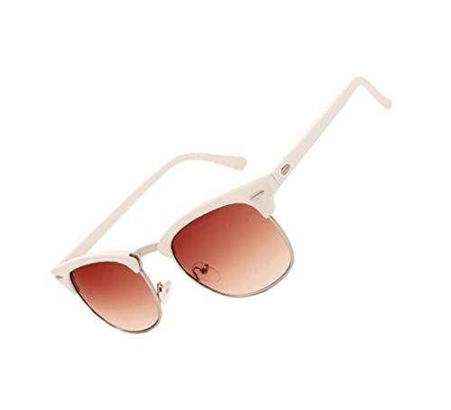 de de diarias de Gafas las viajar conducción para de moda de hombres los hombres sol UV400 de los de de sol medias Gafas mujeres de sol White protección Gafas 6qgnOTA