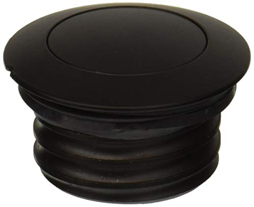 (Krator RC039B Black Fuel New Flush POP UP Gas Cap Vented Harley Davidson FUELTANK Regular Thread (1982-2010))