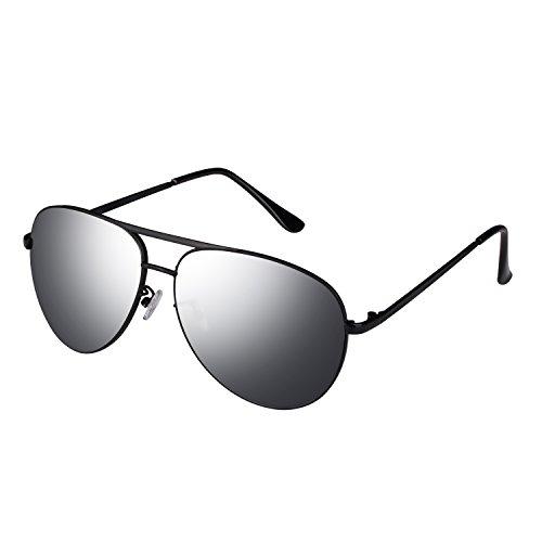 Smileyes Herren Sonnenbrillen UV400 Oval Form modern Schwarz #TSGL001.02A