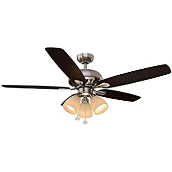 Hampton bay rockport 52 in led brushed nickel ceiling fan 51750 hampton bay rockport 52 in led brushed nickel ceiling fan 51750 1001673208 audiocablefo