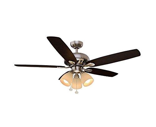 Hampton Bay Rockport 52 in. LED Brushed Nickel Ceiling Fan