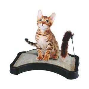 Finepet Kitty Scratcher W/ Play Tail Toy And Cat Nip, My Pet Supplies