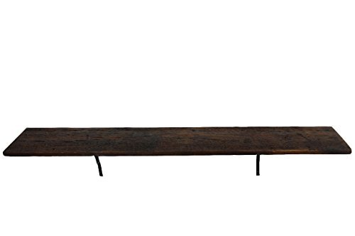 Reclaimed wood shelf, with brackets and mounting hardware (60