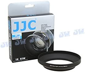 JJC LN-82W 82mm Metal Lens Hood Shade for Canon Nikon Olympus Panasonic 24mm and up Wide-Angle Lens