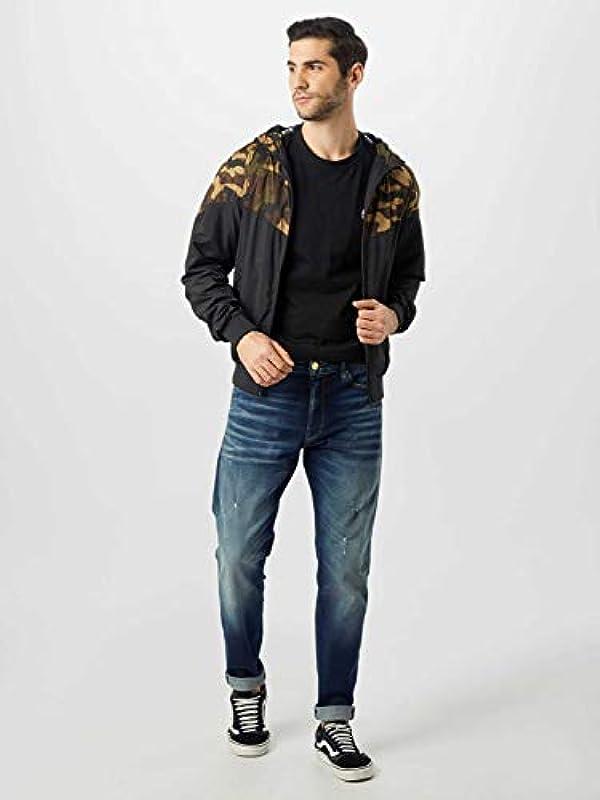 Jeans Jack & Jones Fred Icon Uomo Blue Denim Cropped Con Strappi e graffi 12158615 - 32-34: Odzież