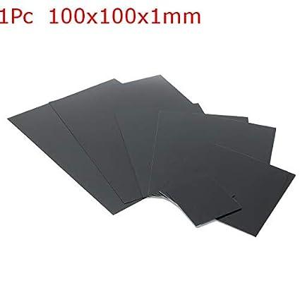 Anddod ABS Black Smooth Acrylonitrile Butadiene Styrene Sheet 1//1.5//2mm 001