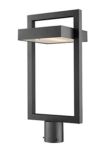 Z-Lite 566PHBR-BK-LED 1 Light Outdoor Post Mount Fixture, Black (Post Lamp Modern)