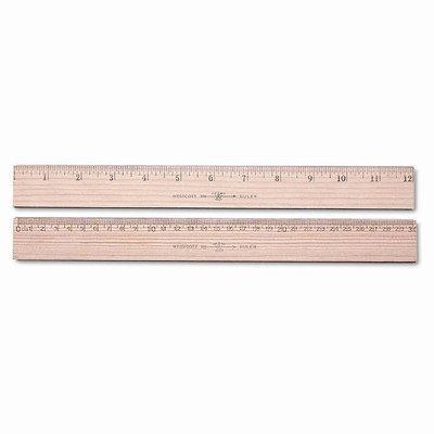 Westcott Wood Ruler, Metric and 1/16