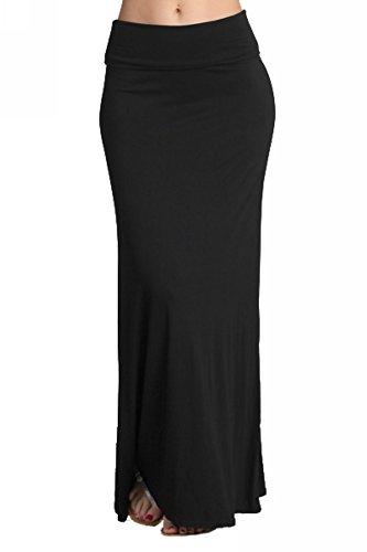 Chatoyant Women's Jersey Knit Maxi Skirt S (Beaded Jersey Skirt)