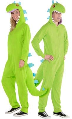 Amscan Rugrats Zipster Reptar One Piece Halloween Costume for Adults, Small/Medium, Green ()