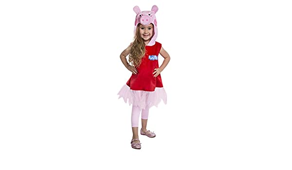 PALAMON Peppa Pig Deluxe Toddler Costume Dress, 3-4T: Amazon.es ...