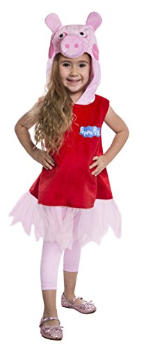 Pig Halloween Costumes (Peppa Pig Deluxe Dress Costume, 2T)