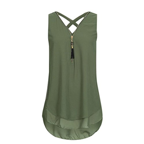 (Forthery Tank Tops For Women Long Length Plus Size Sleeveless Vest Summer Tops (US 2XL = Asia 3XL,)