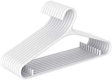 洗濯ハンガー 10PCS /セットワイドショルダーノンスリップハンガーホーム布の場合はスカートパンツハンガーフックトップス 頑丈ハンガー (Color : White, Size : 10pcs)
