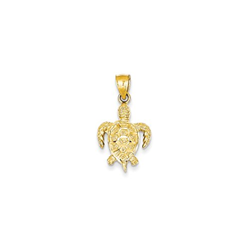 14k Yellow Gold Turtle Pendant (Roy Rose Jewelry 14K Yellow Gold Turtle Pendant)