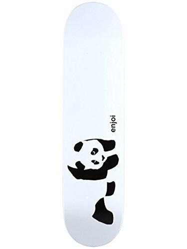 (Enjoi Panda Logo R7 Skateboard Deck, Whitey, 7.75