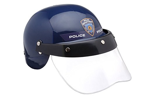 Dress Up America Kids Motorcycle Police Transparent Visor Pretend Play Helmet