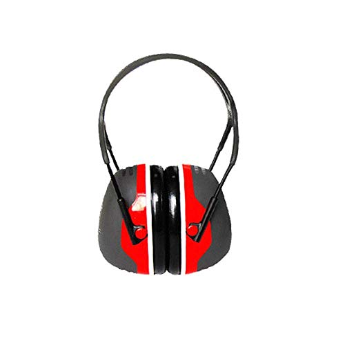 FS Soundproof Earmuffs, Ear Protectors Adults Sleeping Headphones Comfortable Noise Reduction Professional Anti-noise Factory X5A Soundproof Earmuffs (Color : Noise Reduction 33db Red) by FSHEZ (Image #1)