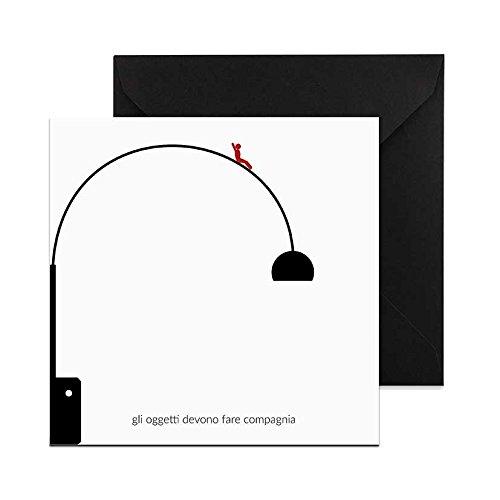Biglietto di Auguri Design Lampada Arco Castiglioni by Cartè a cartèa