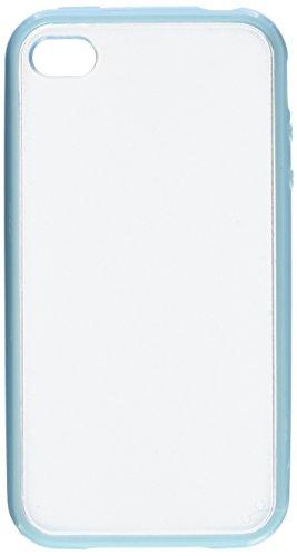 Apple iPhone 4 / 4S | iCues pare-chocs TPU mat Retour Case bleu | [Protecteur d'écran, y compris] protecteur de feuille transparente Temps clair de gel de silicone Housse étui de protection couverture