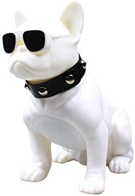 Teléfono de Sonido Bulldog de Cuerpo Entero Combate Bluetooth Cabeza de Perro de Sonido Bluetooth Teléfono montado en el automóvil, Blanco, M11 [Tamaño Grande]
